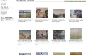Kunstdrucke von Claude Monet bei Kunstbilder-Galerie.de