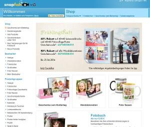 Die Webseite von snapfish
